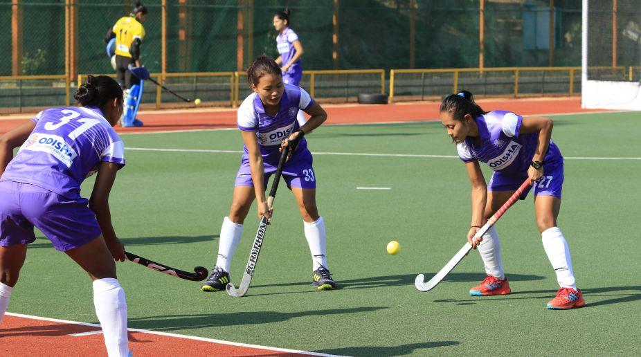 Indian Women's Hockey Team in training.
