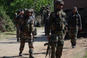 3 militants killed, 5 securitymen injured in J-K gunfight