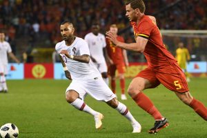Watch   Belgium defender Jan Vertonghen is awarded 100th cap by his mum