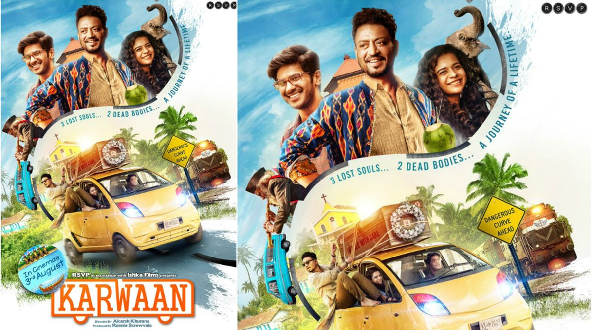 Karwaan poster: Experience journey of adventure with Irrfan Khan, Dulquer Salmaan, Mithila Palkar