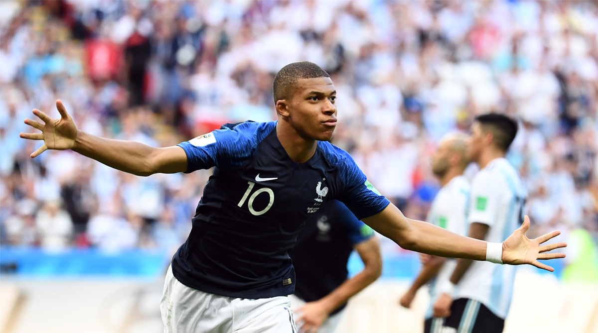 Kylian Mbappe, 2018 FIFA World Cup, FIFA World Cup 2018, France vs Argentina