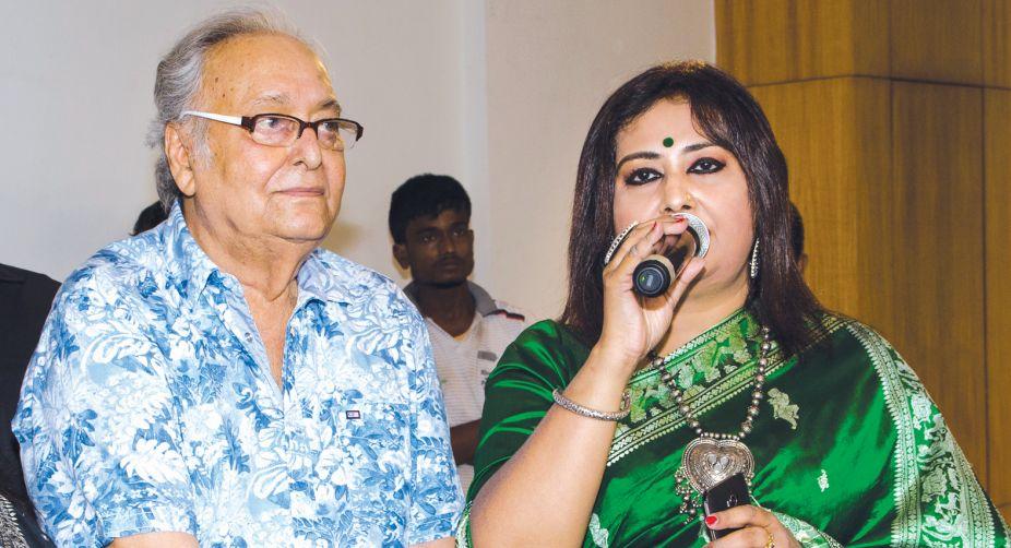 Soumitra Chattopadhyay and Riddhi Bandopadhyay