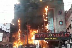 Five killed in fire at two Lucknow hotels