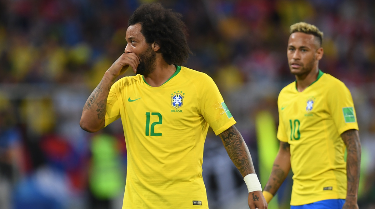 Marcelo, Brazil vs Serbia, 2018 FIFA World Cup, FIFA World Cup 2018, Brazil Football