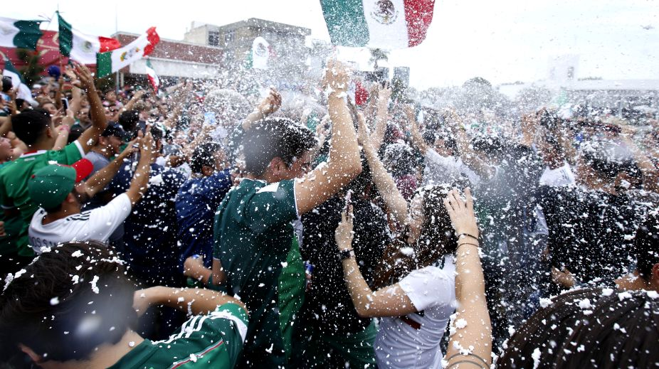 In Pictures: Mexicans celebrate football World Cup victory over Germany