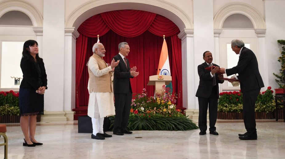 India Singapore Sign Eight Mous Including Crucial Naval Logistics