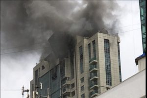 Mumbai: Major fire in Beau Monde Towers in Worli under control; 90 evacuated