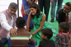 Nikki Haley discusses child trafficking with Kailash Satyarthi