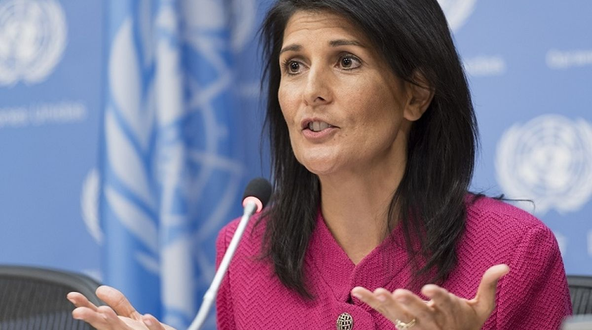 Nikki Haley, the US Permanent Representative to the United Nations