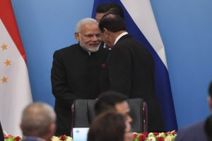 PM Modi, Pakistan President shake hands at SCO Summit in China