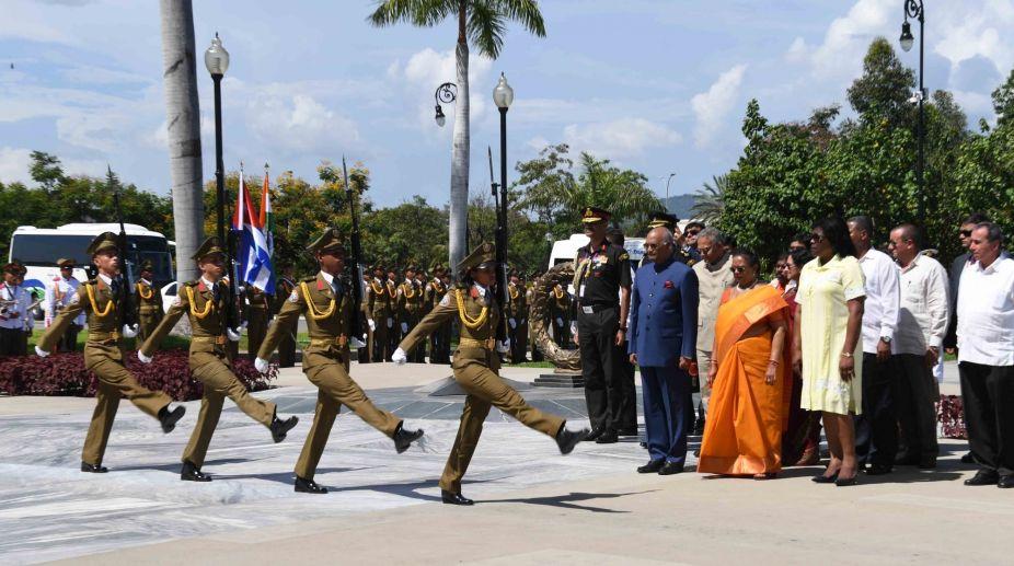 President, Ram Nath Kovind, memorial, Fidel Castro, Cuba