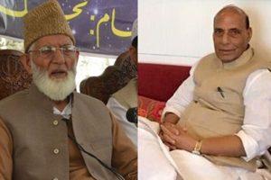 Hurriyat to Rajnath Singh: No talks unless India accepts Kashmir as a dispute