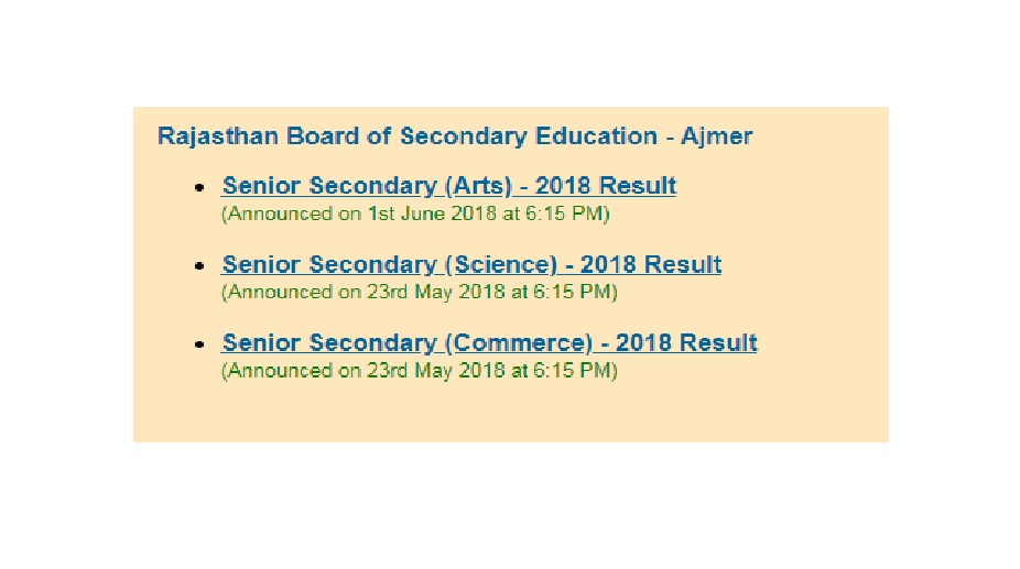 Rajasthan board class 12 arts results 2018 declared at rajeduboard rajeduboardrajasthan rajresultsc rbse malvernweather Gallery