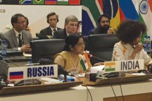 Swaraj calls for setting up BRICS security forum