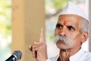 Sambhaji Bhide in trouble over his 'mangoes for sons' remarks