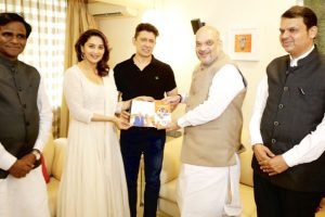 Contact for support: Shah meets Madhuri, highlights BJP govt's achievements