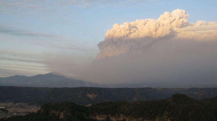 Mt Shimnoe volcano