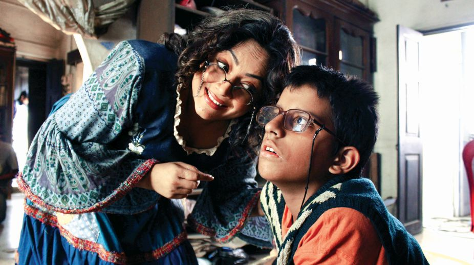 Sreelekha Mitra and Mahabrata Sen in a still from Rainbow Jelly