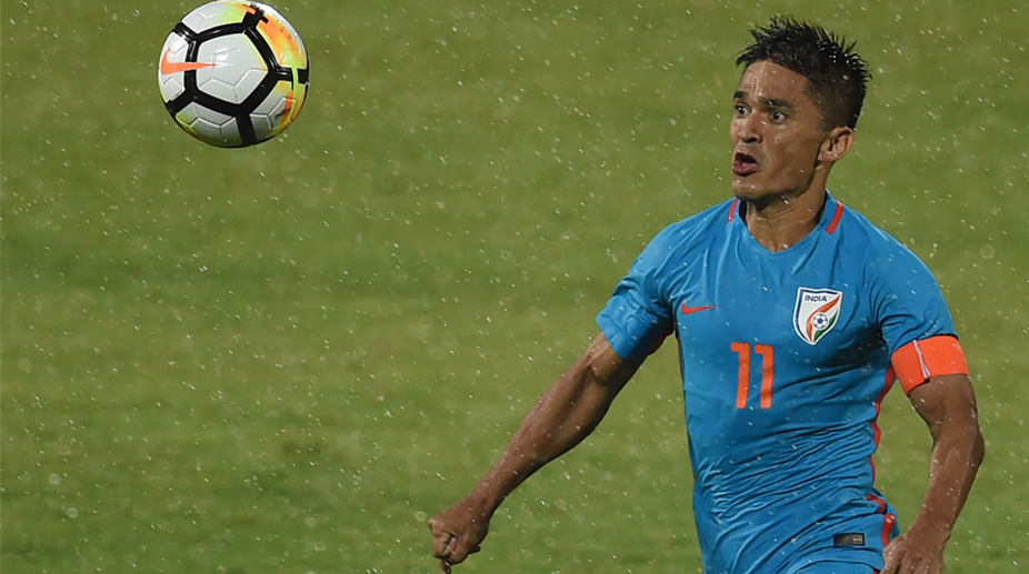 Intercontinental Cup: Centurion Sunil Chhetri fires India to