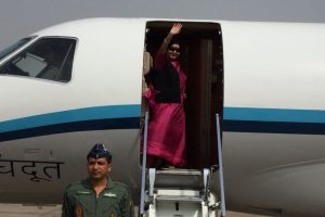 Sushma Swaraj leaves for SA on 5-day visit; to attend BRICS, IBSA