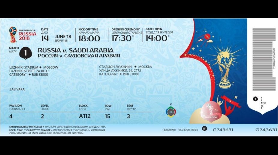 2018 FIFA World Cup tickets