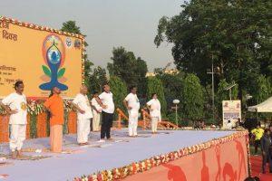 Rajnath, Naik, Yogi lead Yoga Day celebrations in Uttar Pradesh