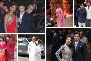 In pics: B-Town stars shine at Akash Ambani and Shloka Mehta's pre-engagement ceremony