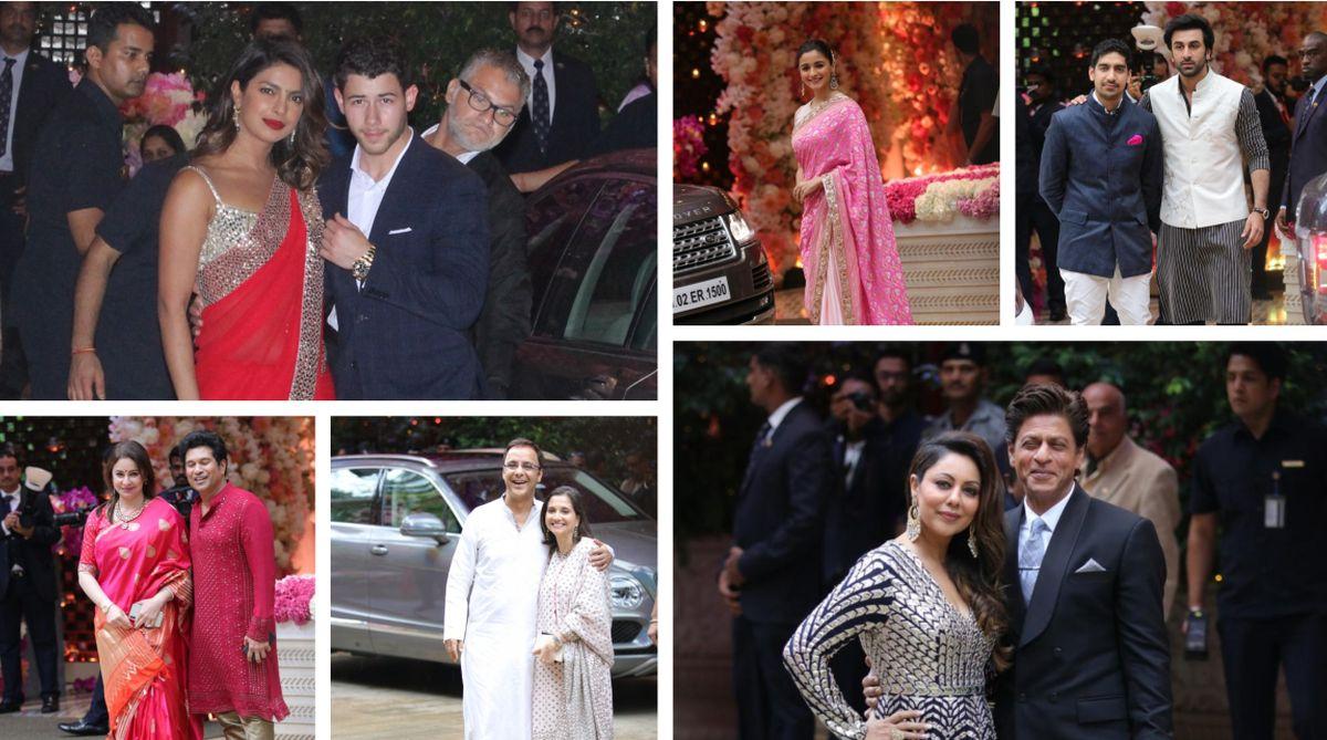 In pics: B-Town stars shine at Akash Ambani and Shloka Mehta's pre-engagement ceremony