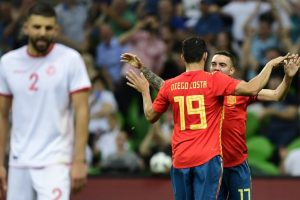 Spain struggle in 1-0 win against Tunisia