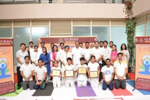 International Yoga Day celebrated at GL Bajaj Institute of Management & Research