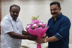 Kamal Haasan meets Kumaraswamy to find solution to Cauvery water dispute