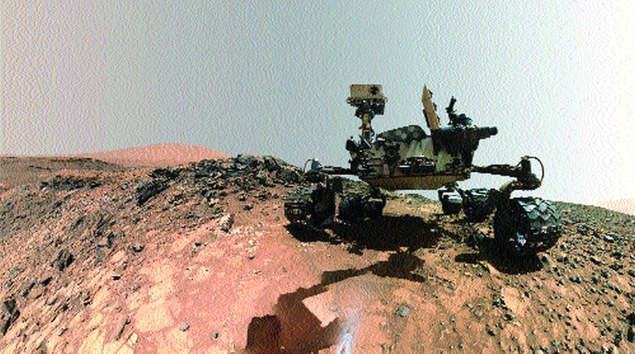 The Curiosity rover on Mars, pic courtesy NASA