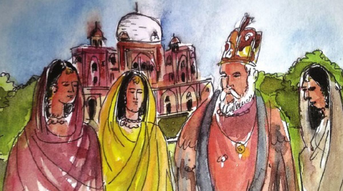 Mughal beauties : outing with king