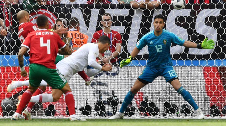 Portugal, Ronaldo, Header, Morocco