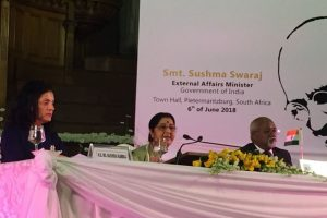 Mahatma Gandhi, Nelson Mandela gave hope to people facing discrimination: Swaraj