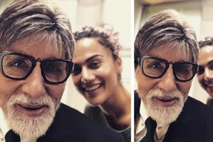 Taapsee shares adorable picture with Big B from the sets of Badla