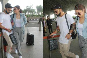 Watch: Virat Kohli, Anushka Sharma twinning in white sneakers