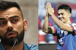 Kohli supports his 'good friend' Chhetri, makes heartfelt 'support football' plea