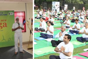 Ola, NTPC observe International Yoga Day