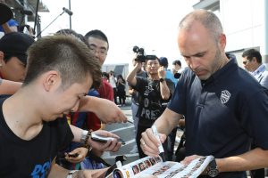 Andres Iniesta arrives in Japan to join Vissel Kobe