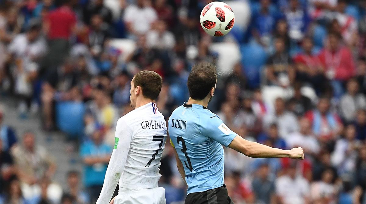 Antoine Griezmann, Diego Godin, 2018 FIFA World Cup, FIFA World Cup 2018, France Football, France vs Uruguay