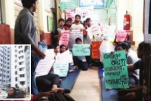 CMCH students protest, seek accommodation in new hostel