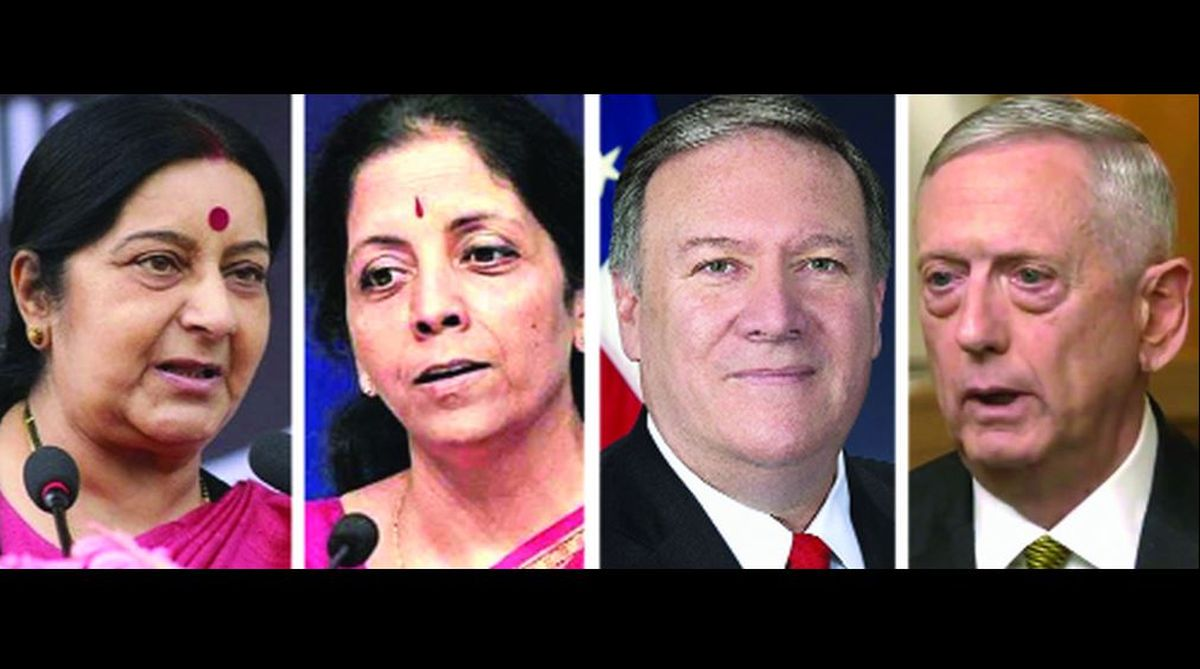 two-plus-two, India, US, Iranian oil, Russian weapon system, CAATSA, 2+2 summit, Michael R Pompeo, James Mattis