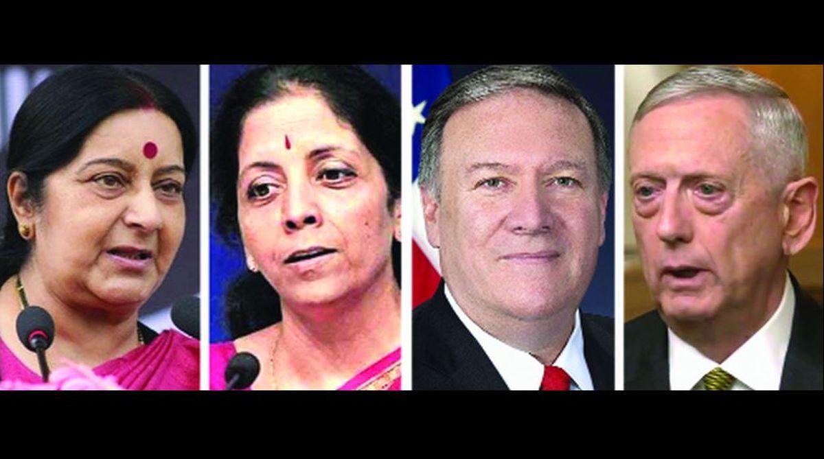 two-plus-two, India, US, Iranian oil,Russian weapon system,CAATSA,2+2 summit, Michael R Pompeo,James Mattis