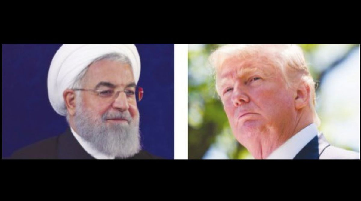 Iranian President Hassan Rouhani and US President Donald Trump