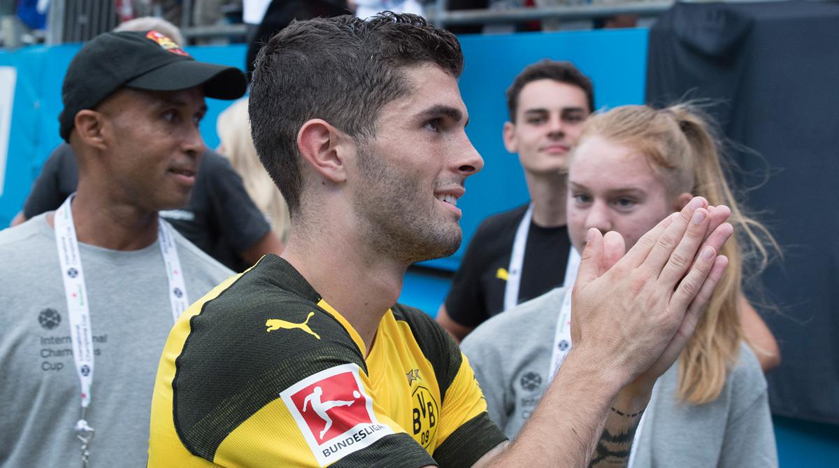 Christian Pulisic, Liverpool vs Borussia Dortmund, Borussia Dortmund, International Champions Cup, Liverpool F.C.