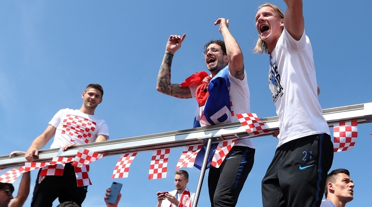 World Cup runners-up welcomed as heroes in Croatia