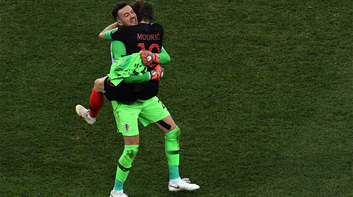 Danijel Subasic, Luka Modric, Croatia Football, 2018 FIFA World Cup, FIFA World Cup 2018, Croatia vs Denmark