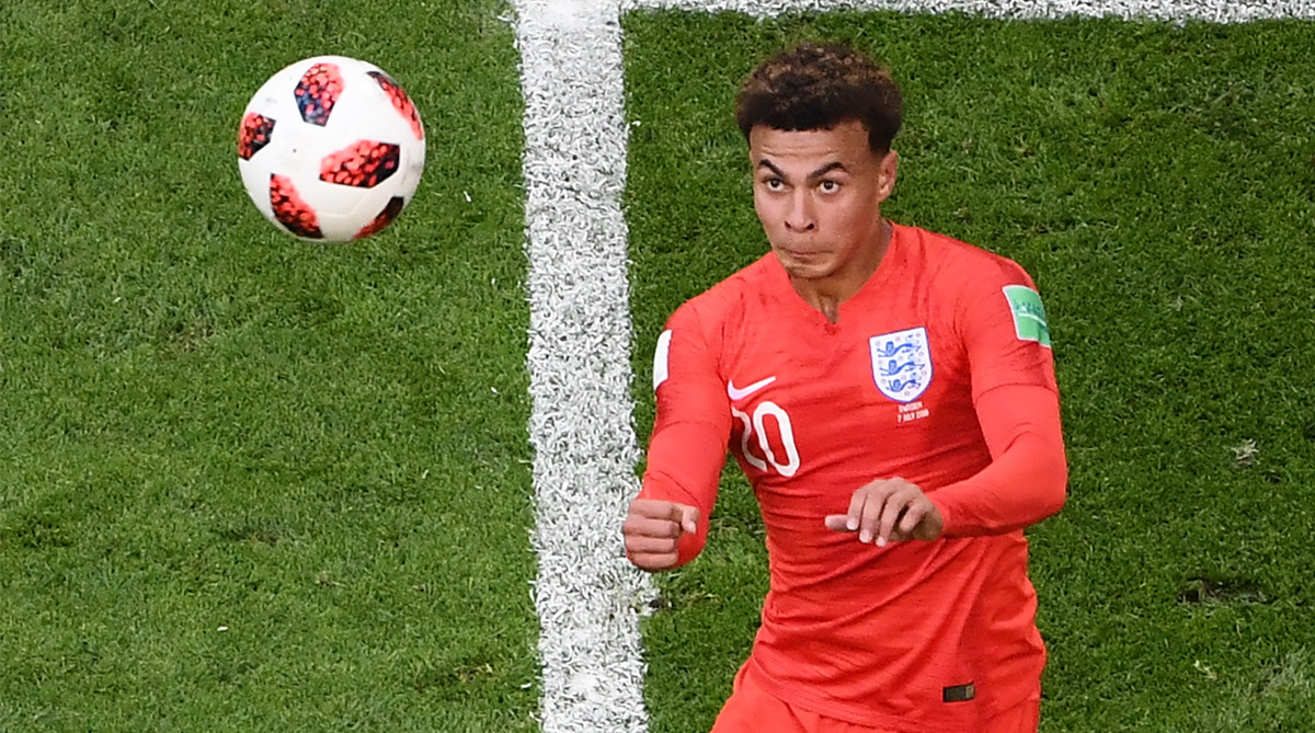 Dele Alli, England vs Sweden, 2018 FIFA World Cup, FIFA World Cup 2018, England Football
