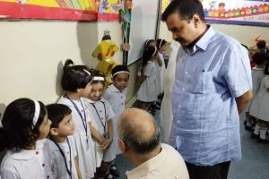 Kejriwal, Sisodia visit school where KG students were 'locked up' in basement